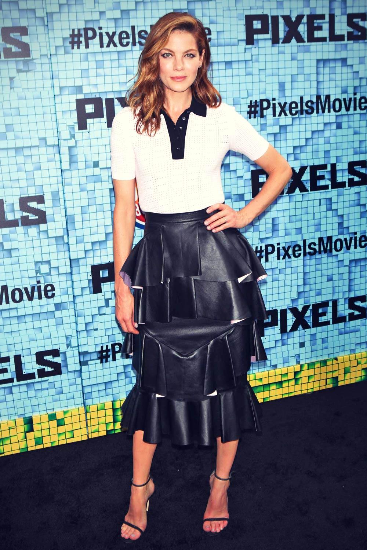 Michelle Monaghan attends Pixels premiere