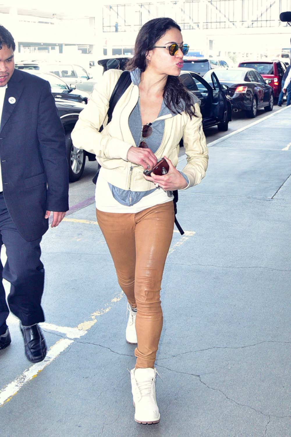 Michelle Rodriguez at LAX