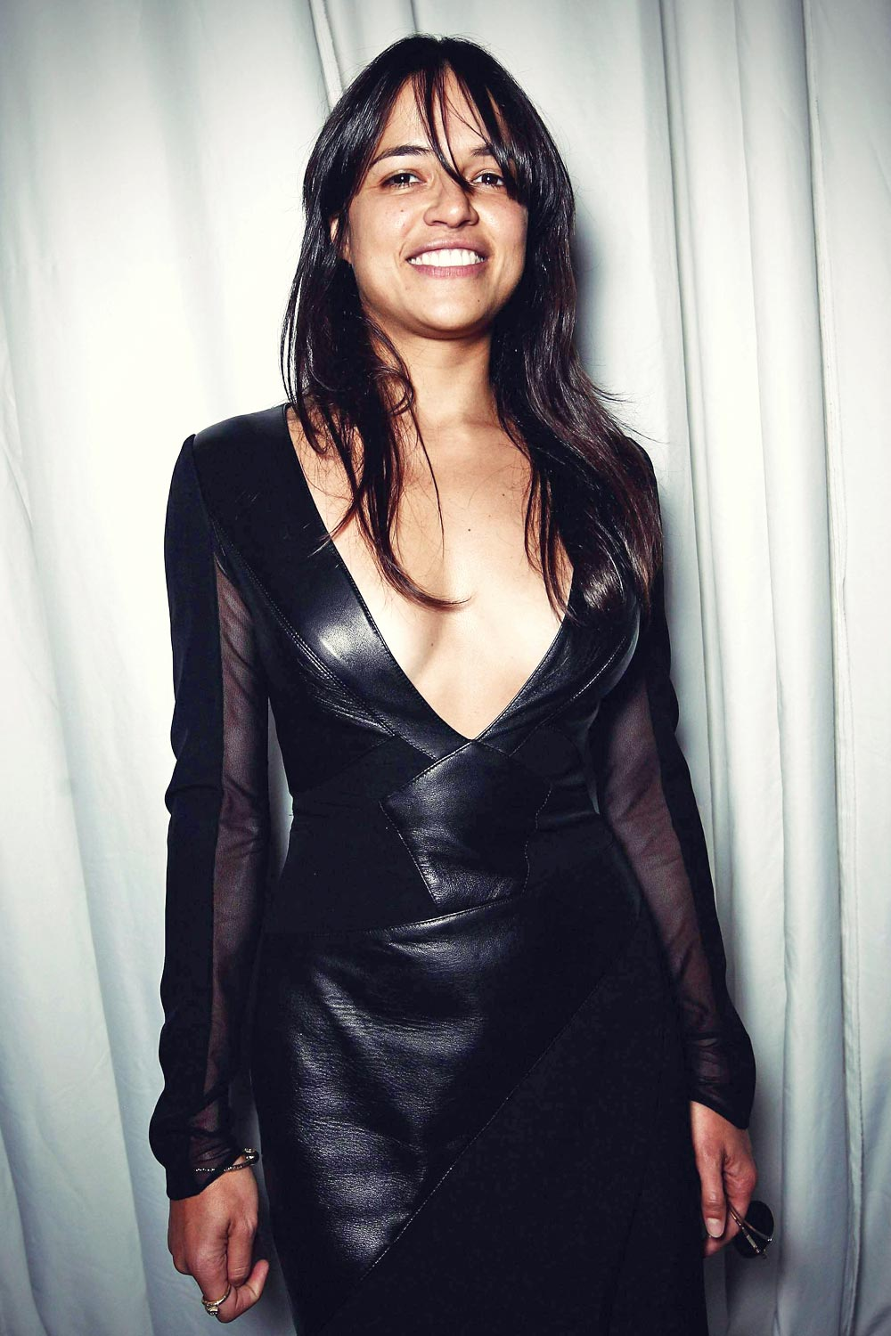 Michelle Rodriguez Poses At The Gabriela Cadena Spring