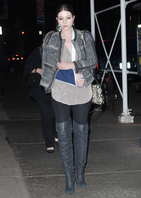 Michelle Trachtenberg arrives at the ABC Kitchen Restaurant