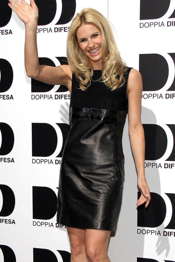 Michelle Hunziker at Doppia Difesa Cocktail Party in Milan
