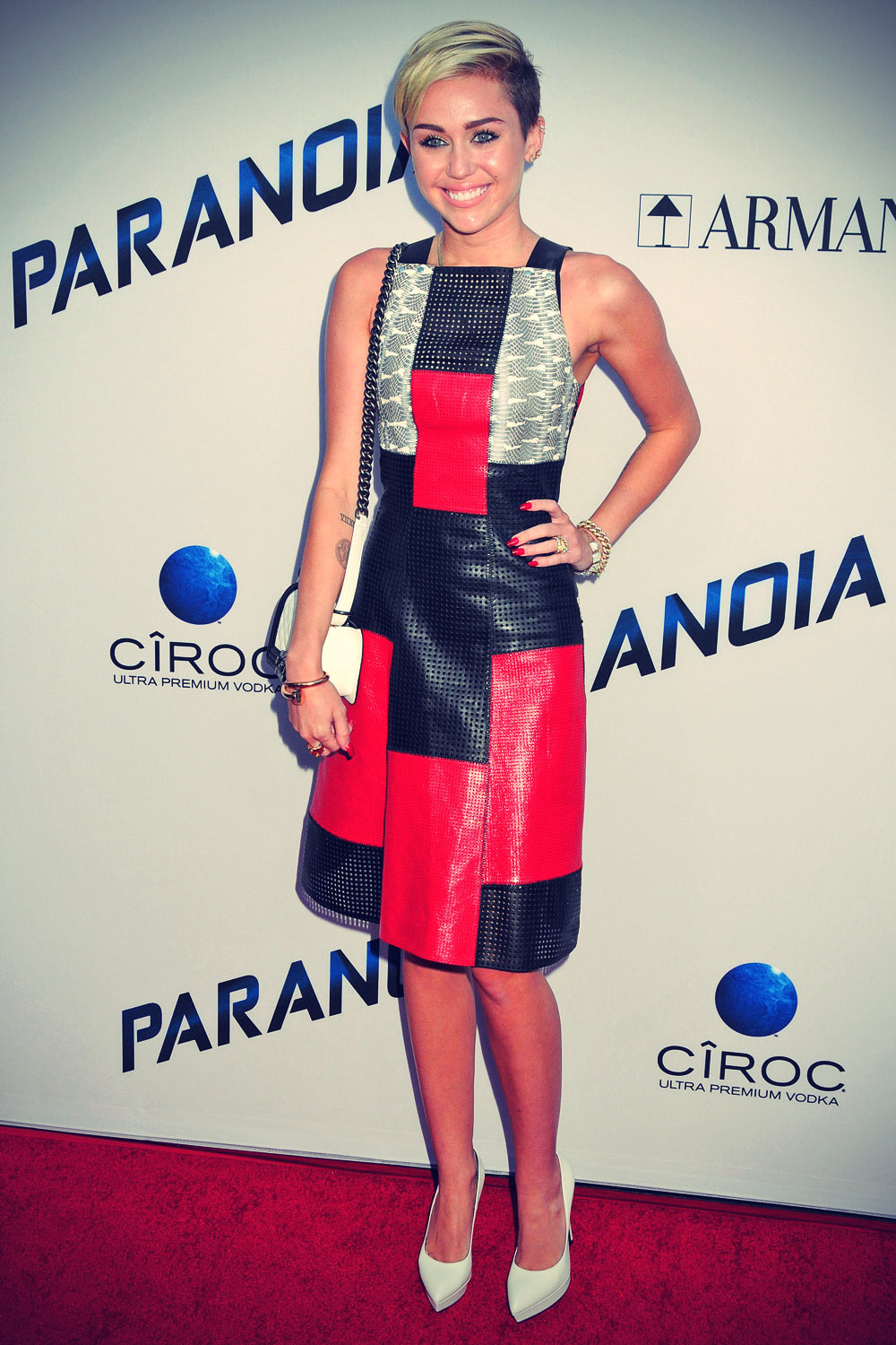 Miley Cyrus attends Paranoia Los Angeles Premiere