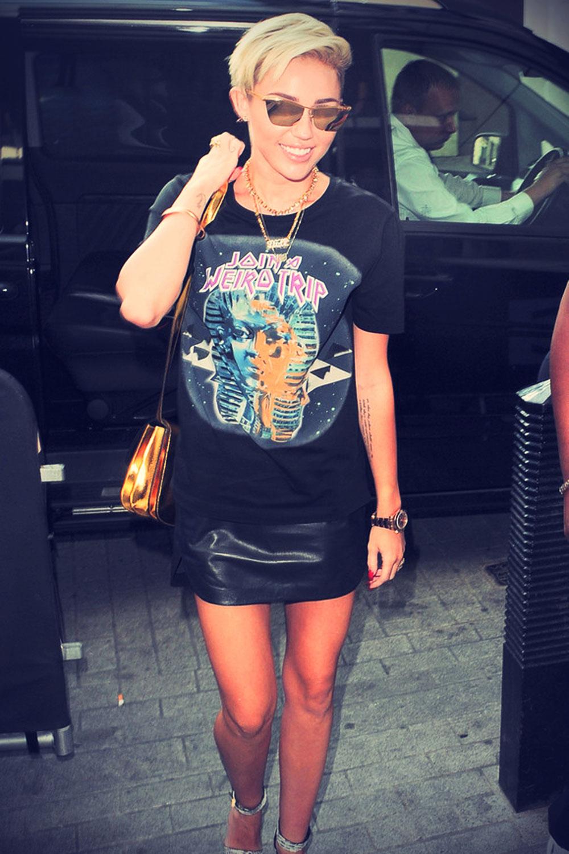 Miley Cyrus outside BBC Radio 1 Studios