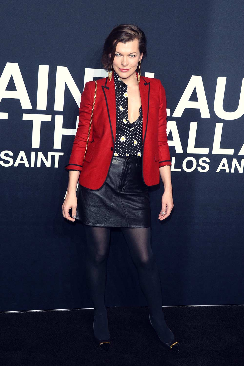 Milla Jovovich attends Saint Laurent show