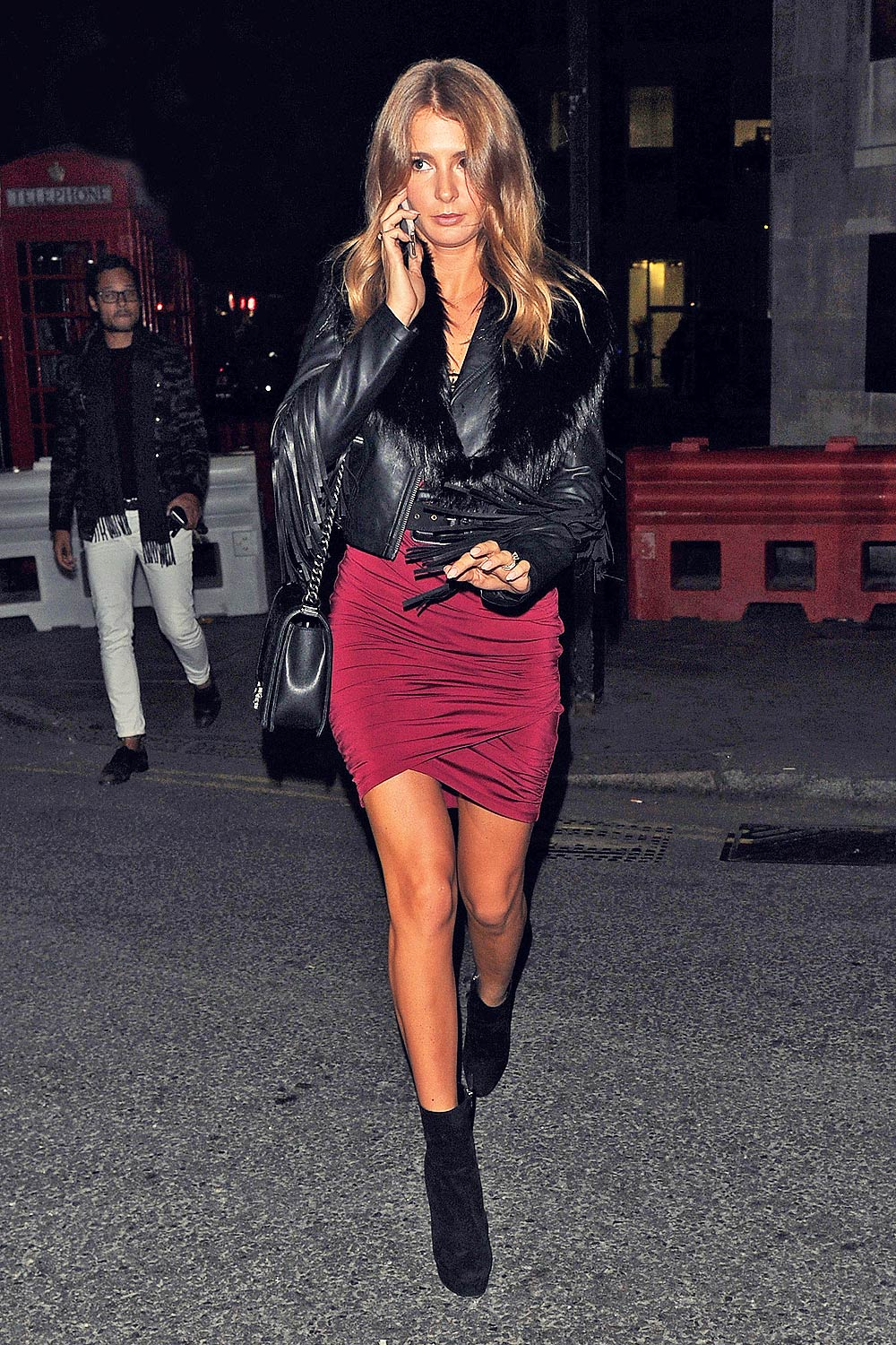 Millie Mackintosh seen leaving Tape nightclub