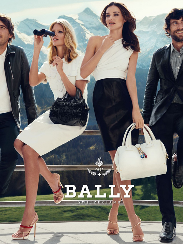 Miranda Kerr and Julia Stegner in Bally Spring Summer 2012 campaign