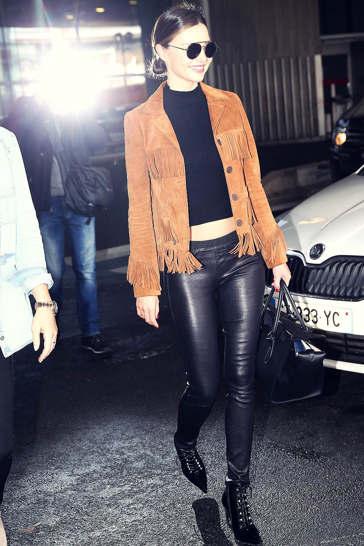 Miranda Kerr Arrives At Charles De Gaulle Airport