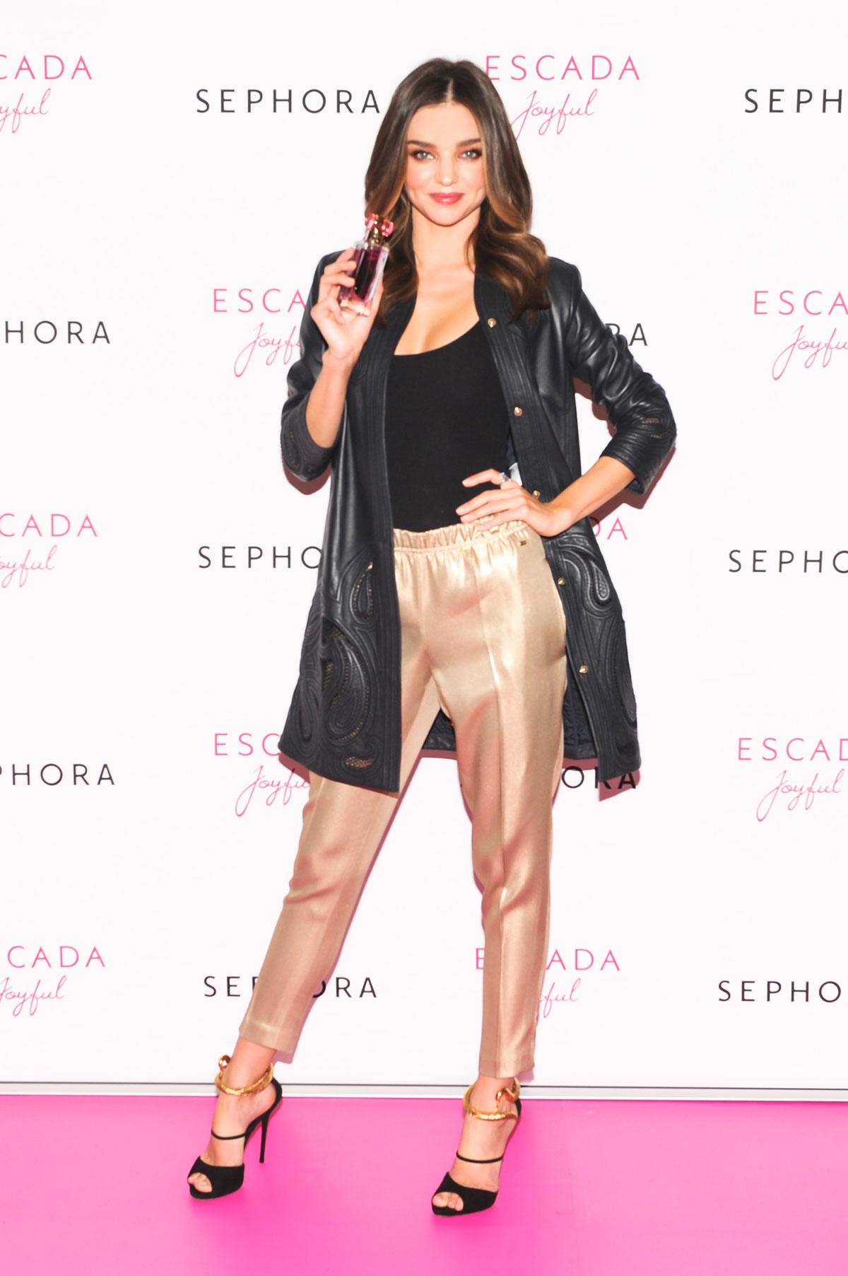Miranda Kerr attends ESCADA at SEPHORA Union Square