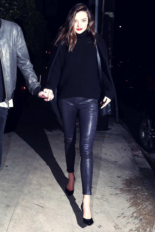 Miranda Kerr during a romantic evening in Beverly Hills