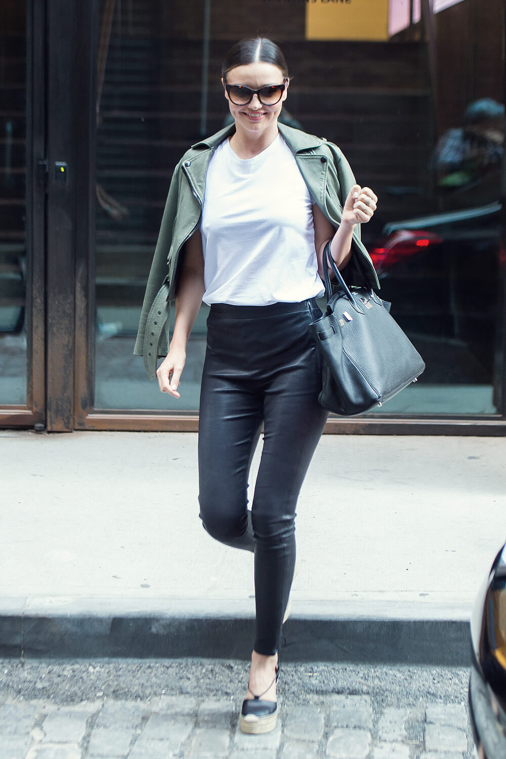 Miranda Kerr Out In Nyc Leather Celebrities