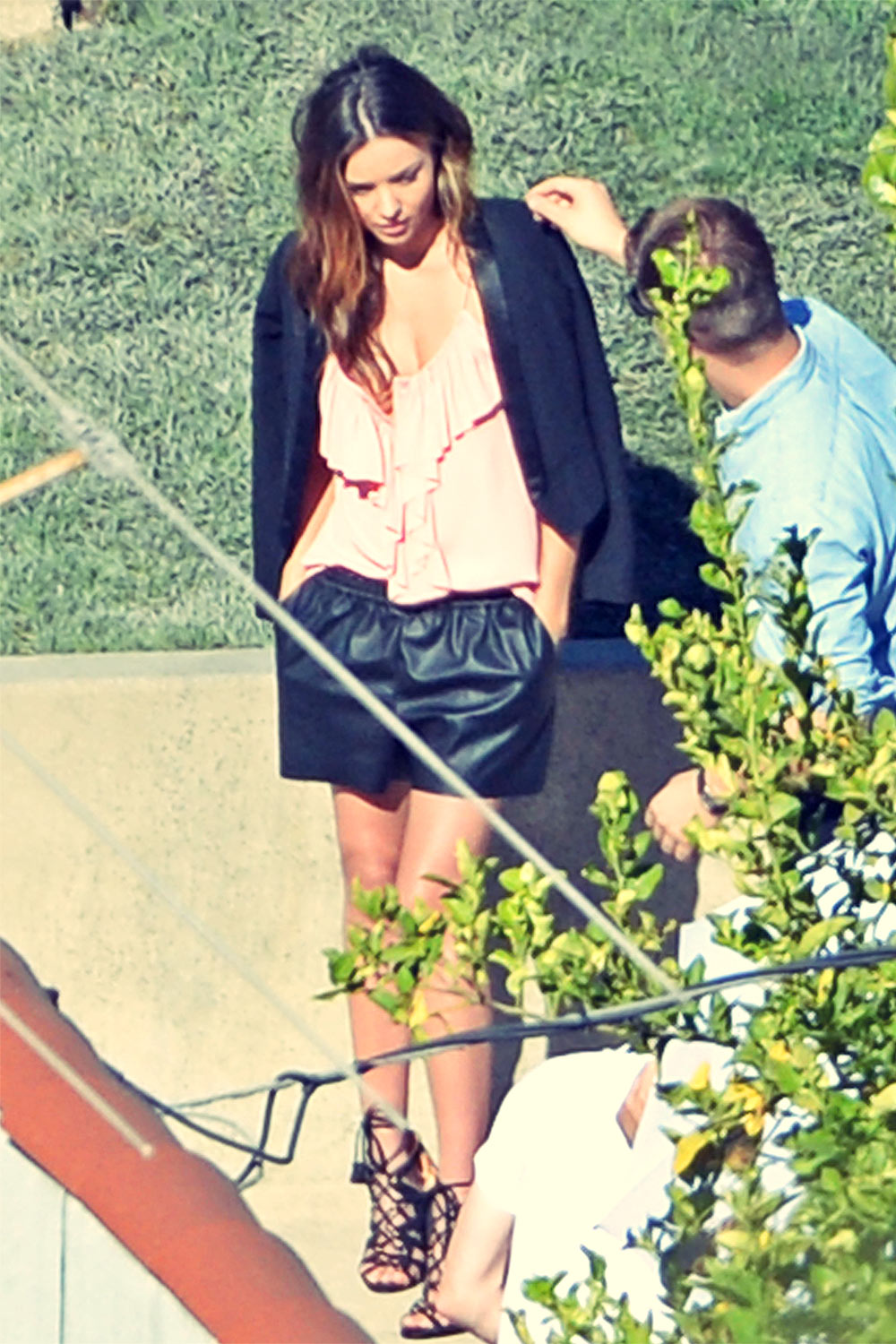Miranda Kerr photo shoot set candids in LA