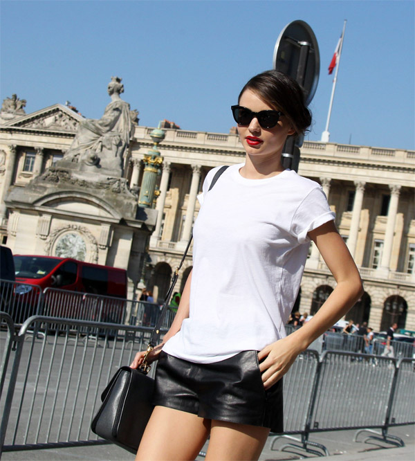 Miranda Kerr During the Fashion Week in Paris
