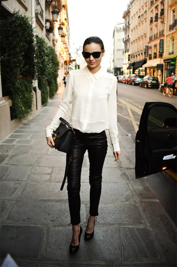 Miranda Kerr at the fashion week in Paris