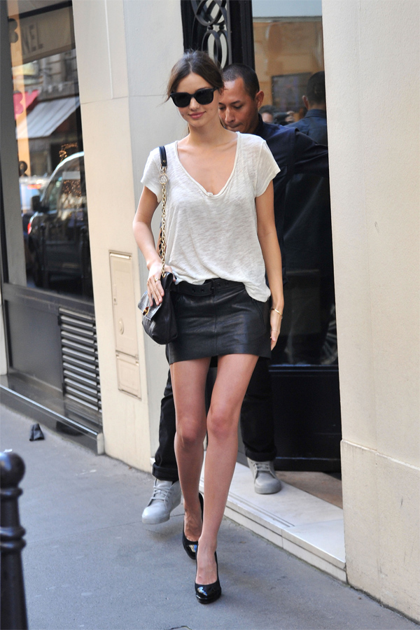 Miranda Kerr shopping at Chanel in Paris