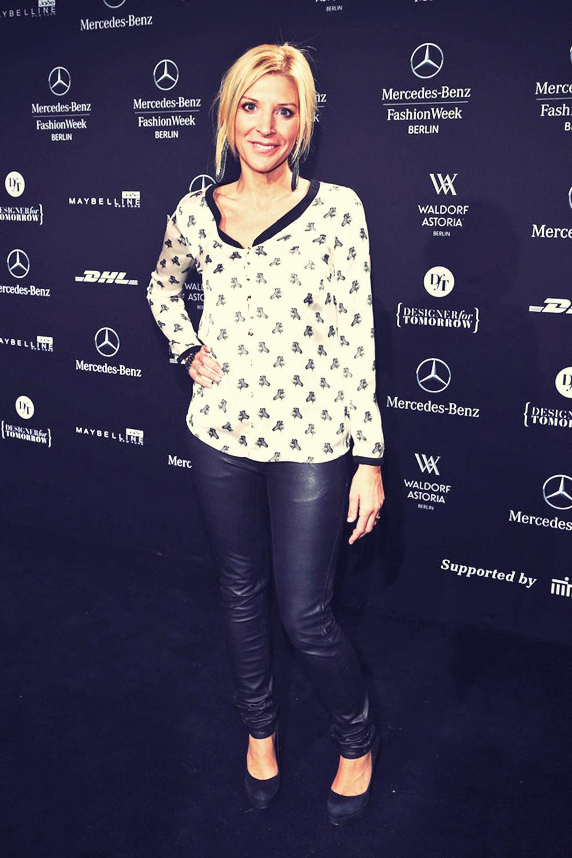 Miriam Pede attends Mercedes-Benz Fashion Week Berlin 2013
