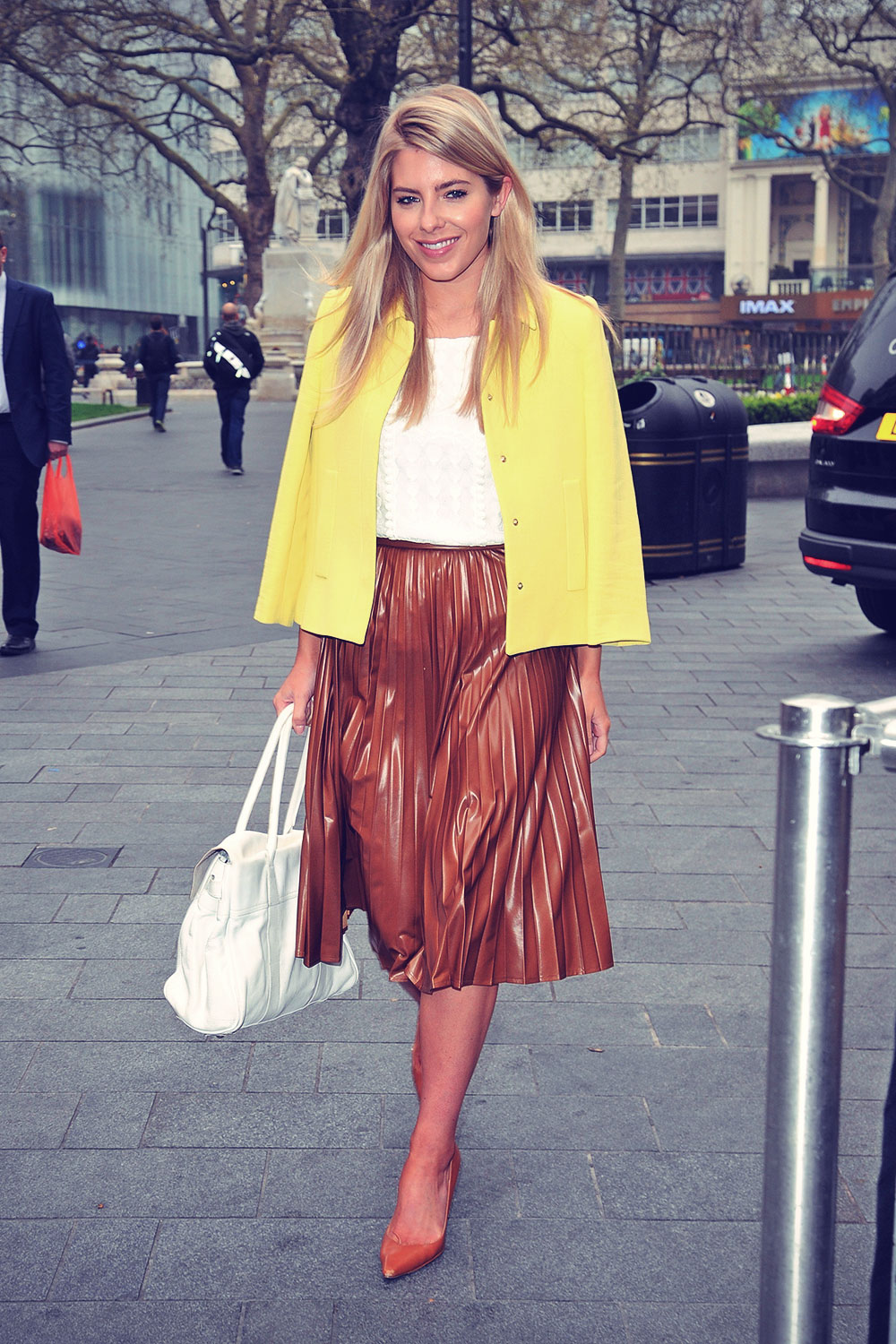 Mollie King arrives at Capital FM studios