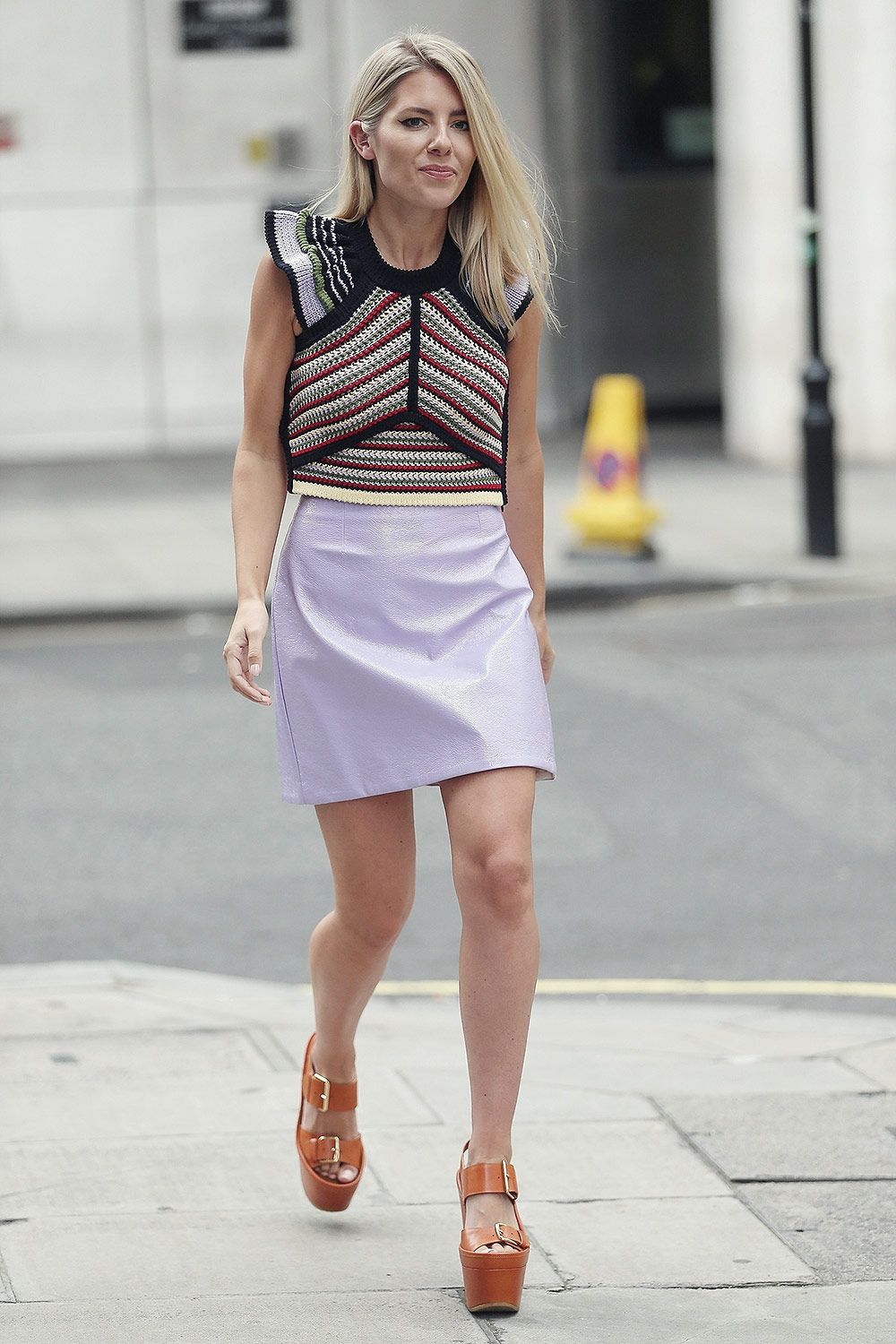 Mollie King seen at BBC Broadcasting House