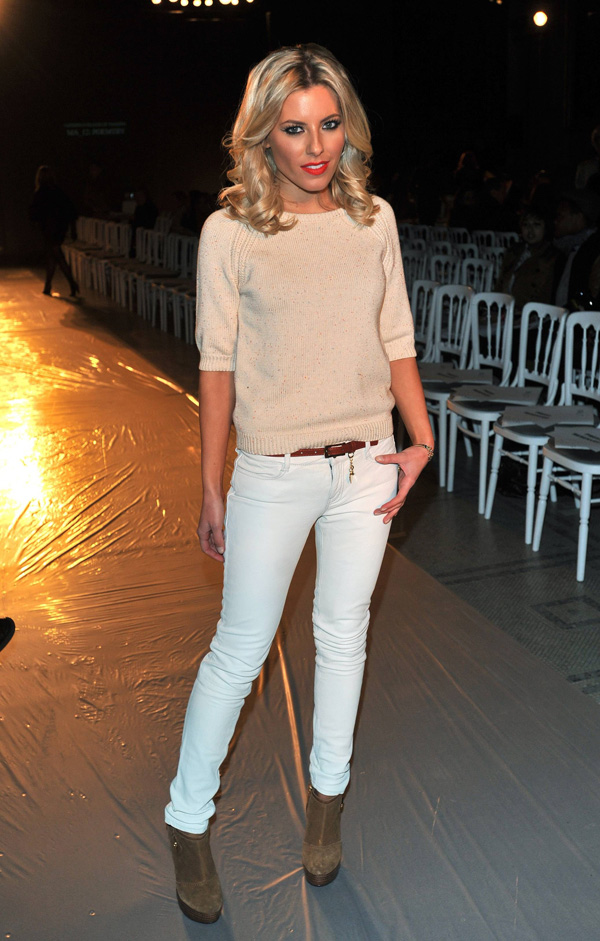 Mollie King at LCF MA Fashion Design Technology Graduate Fashion Show