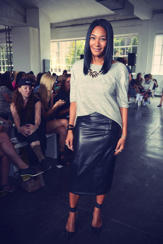 Monique Pean attends the Tanya Taylor fashion show