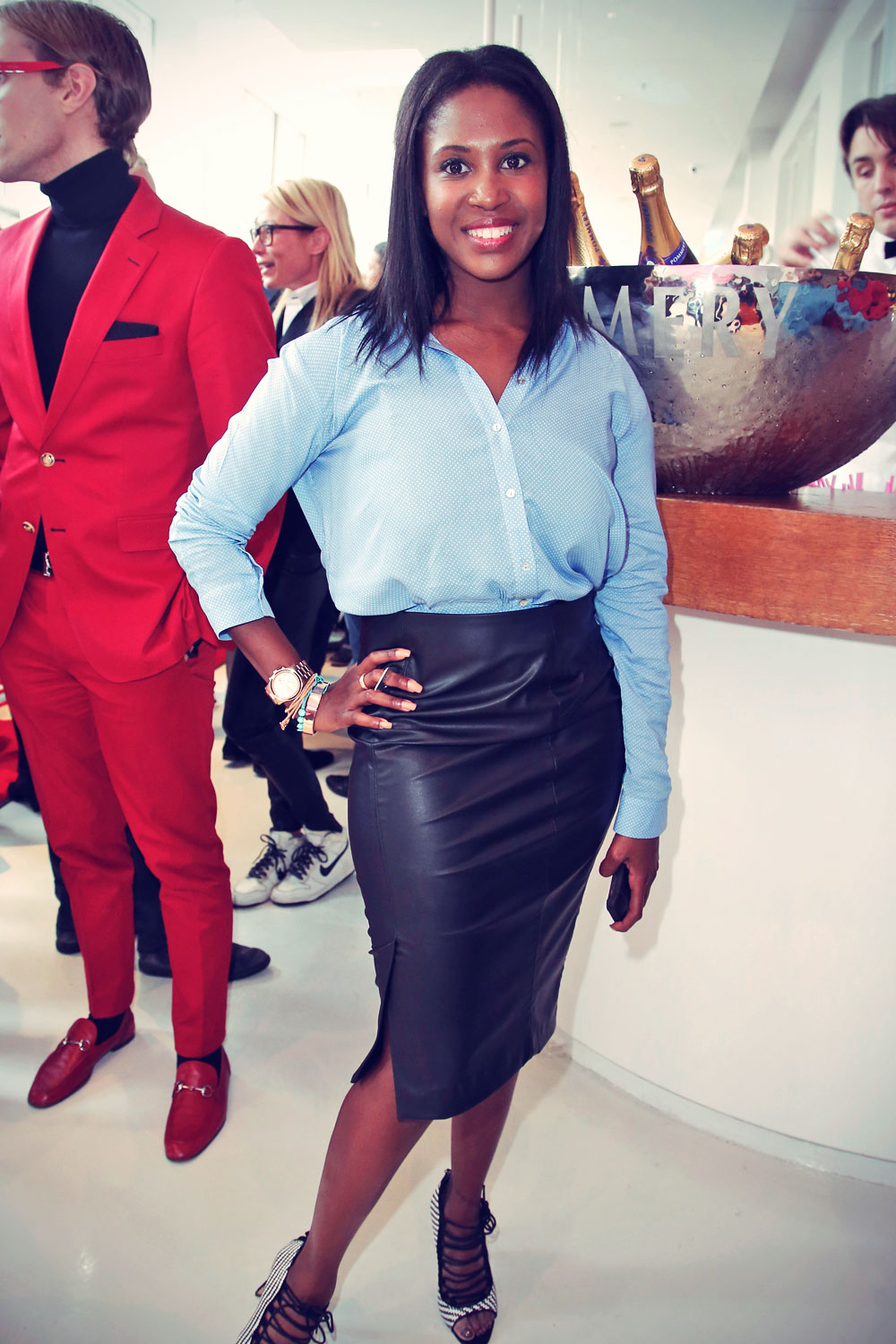 Motsi Mabuse attends Mercedes-Benz Fashion Week
