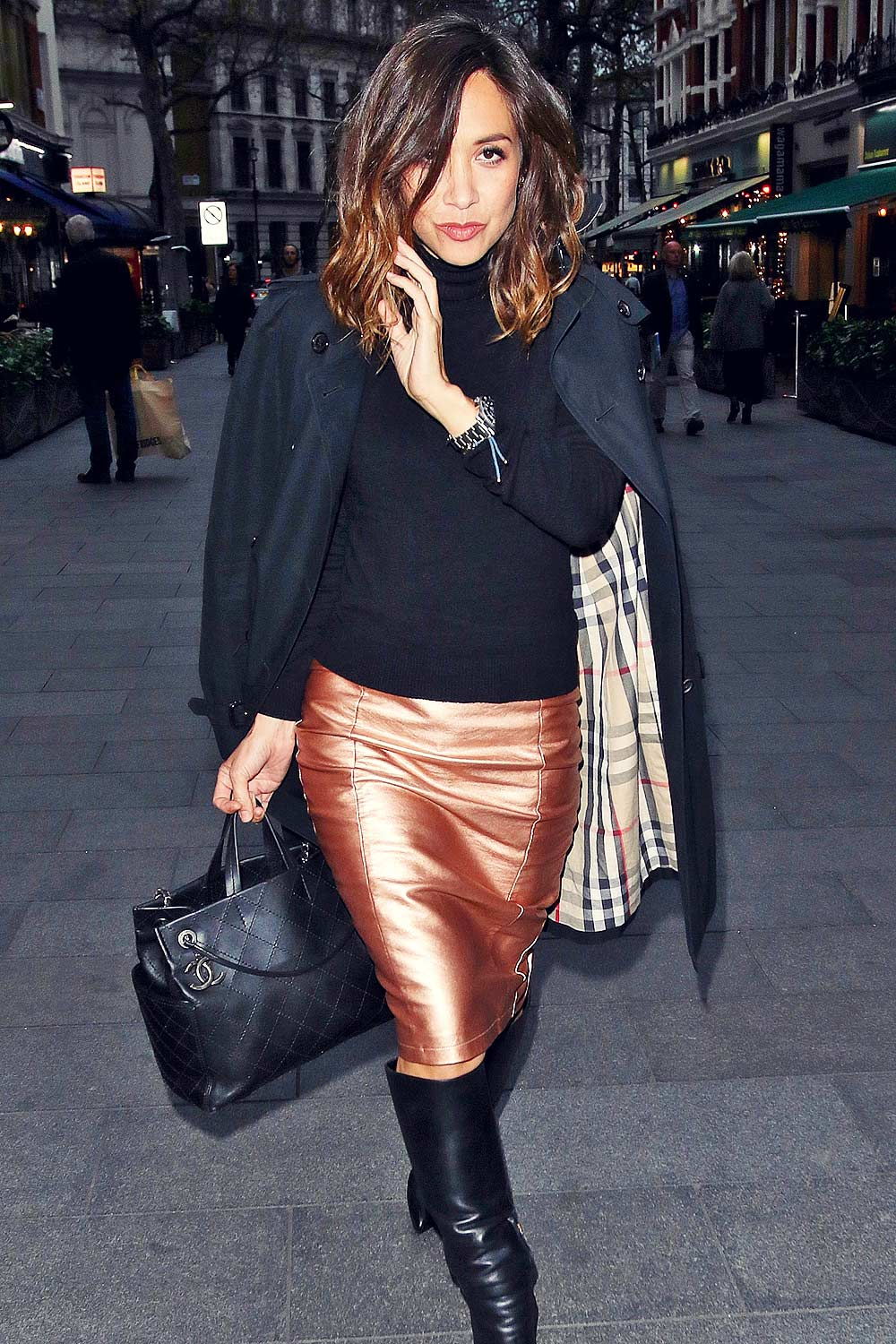 Myleene Klass out & about in London