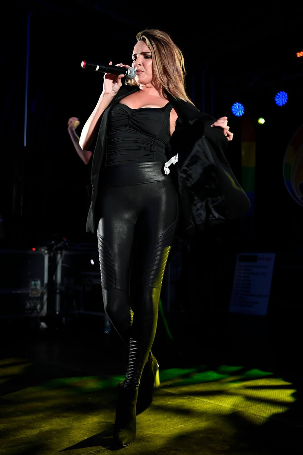 Nadine Coyle performing at Chester Pride