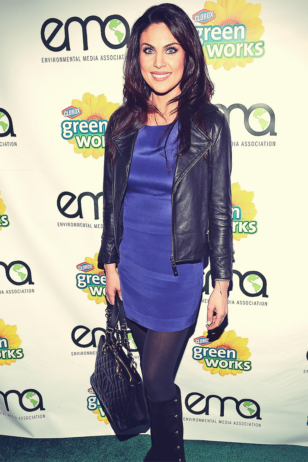 Nadja Bjorlin attends Celebrities and the EMA Help Green Works Launch New Campaign