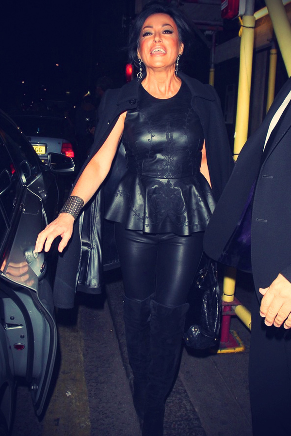 Nancy Dell'Olio leaving the MOBO Awards nominations party