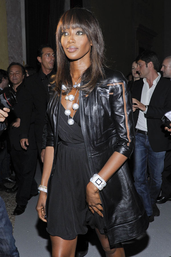 Naomi Campbell attends The Swarovski Fashionation at Palazzo Reale in Milan, Italy