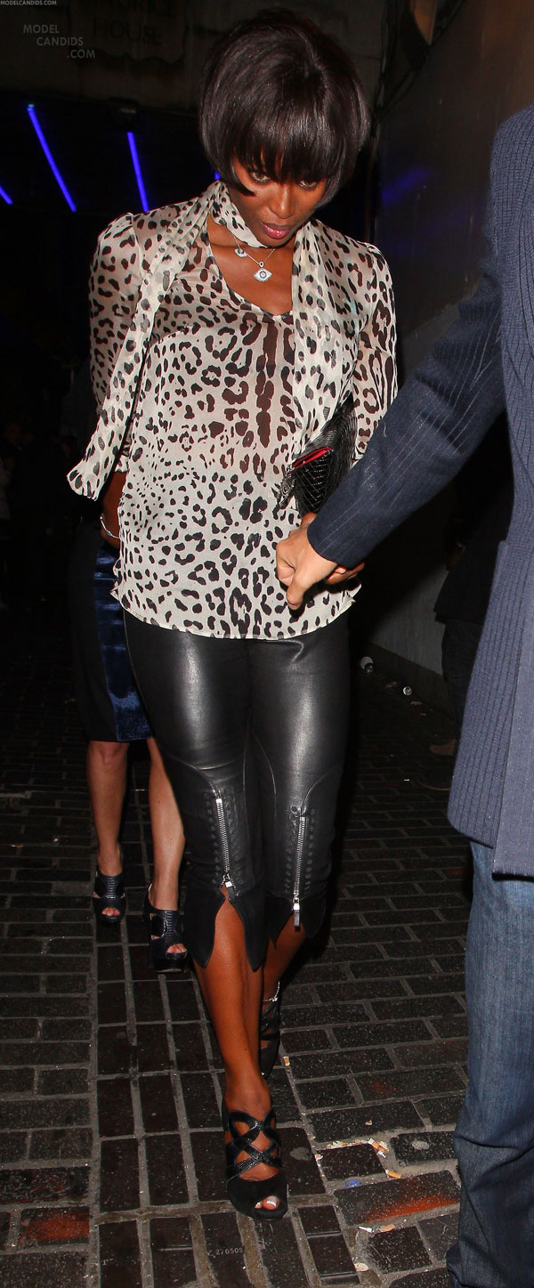 Naomi Campbell leaving the Box Club