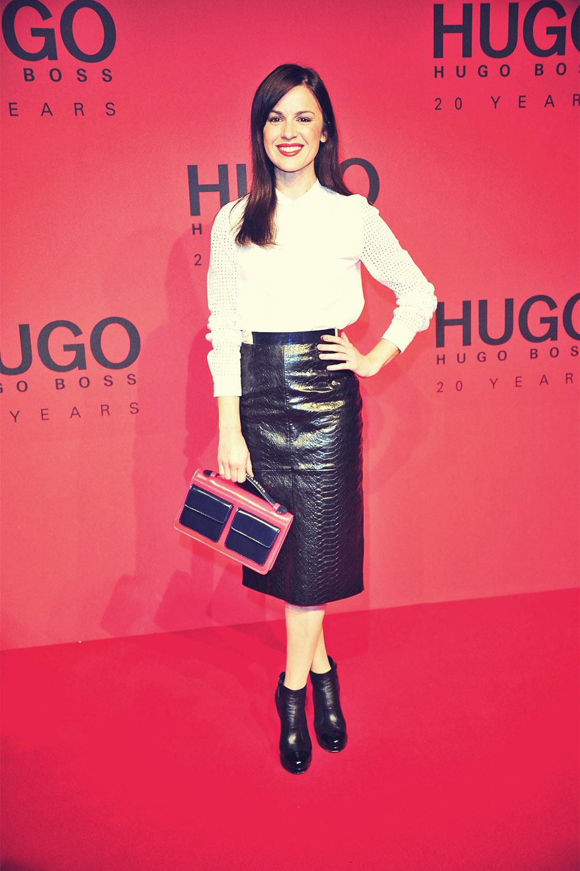 Natalia Avelon attends Mercedes-Benz Fashion Week