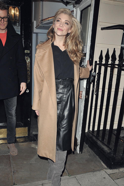 Natalie Dormer leaving The Haymarket Theatre after performing in 'Venus in Fur'