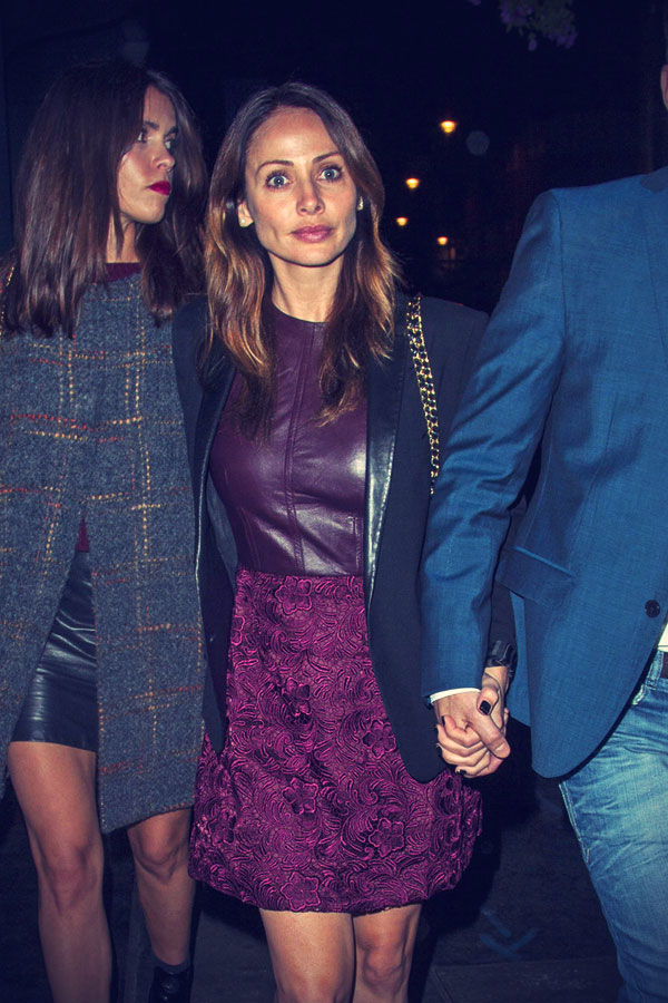 Natalie Imbruglia leaving from the Groucho Club