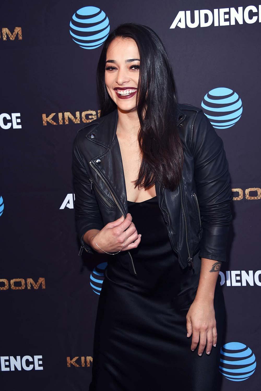 Natalie Martinez attends Kingdom premiere