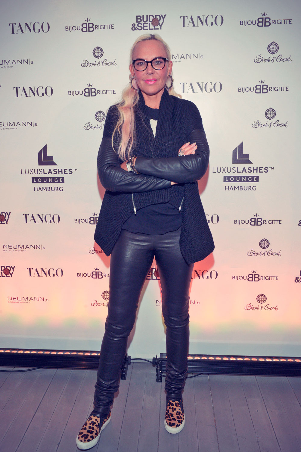 Natascha Ochsenknecht attends opening of the first LuxusLashes Lounge