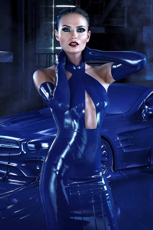 Natasha Poly photoshoot for Mercedes-Benz Fashion Obsession with an Icon