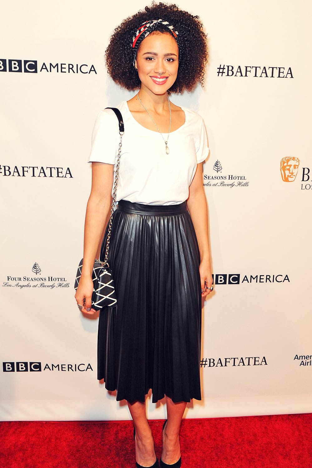 Nathalie Emmanuel attends BAFTA Los Angeles Awards Season Tea