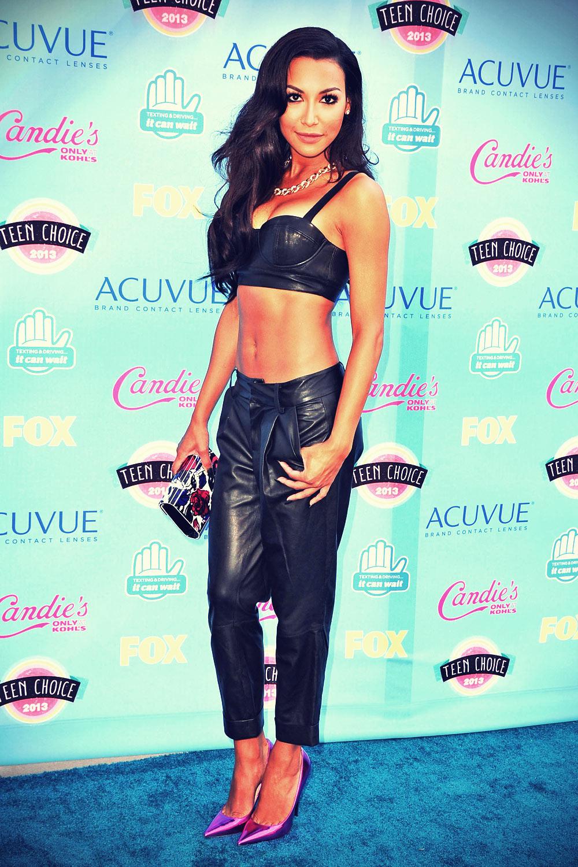 Naya Rivera attends 2013 Teen Choice awards