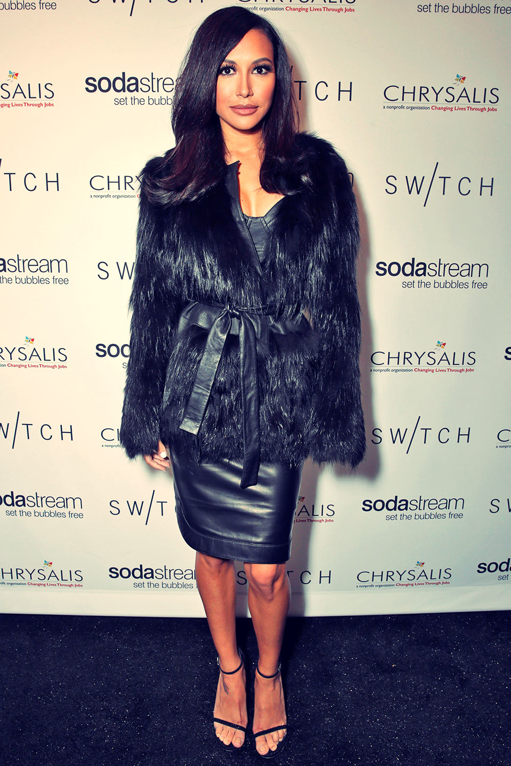 Naya Rivera attends a night of shopping and cocktails at Switch Boutique's Holiday Party