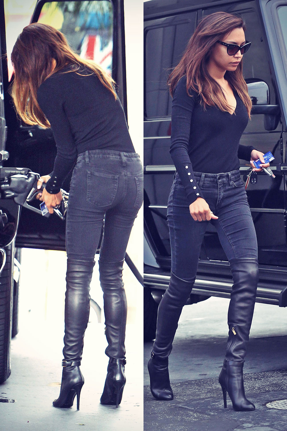 Naya Rivera heads out of Blushington after an appointment