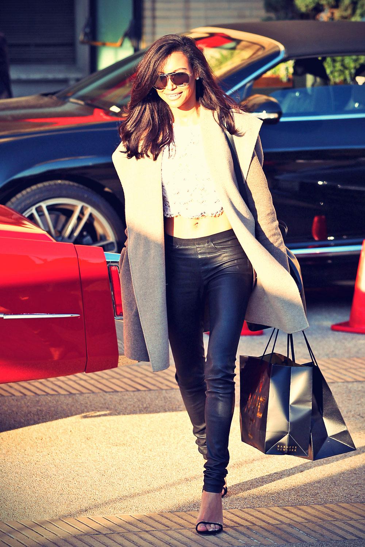 Naya Rivera leaves Barneys New York