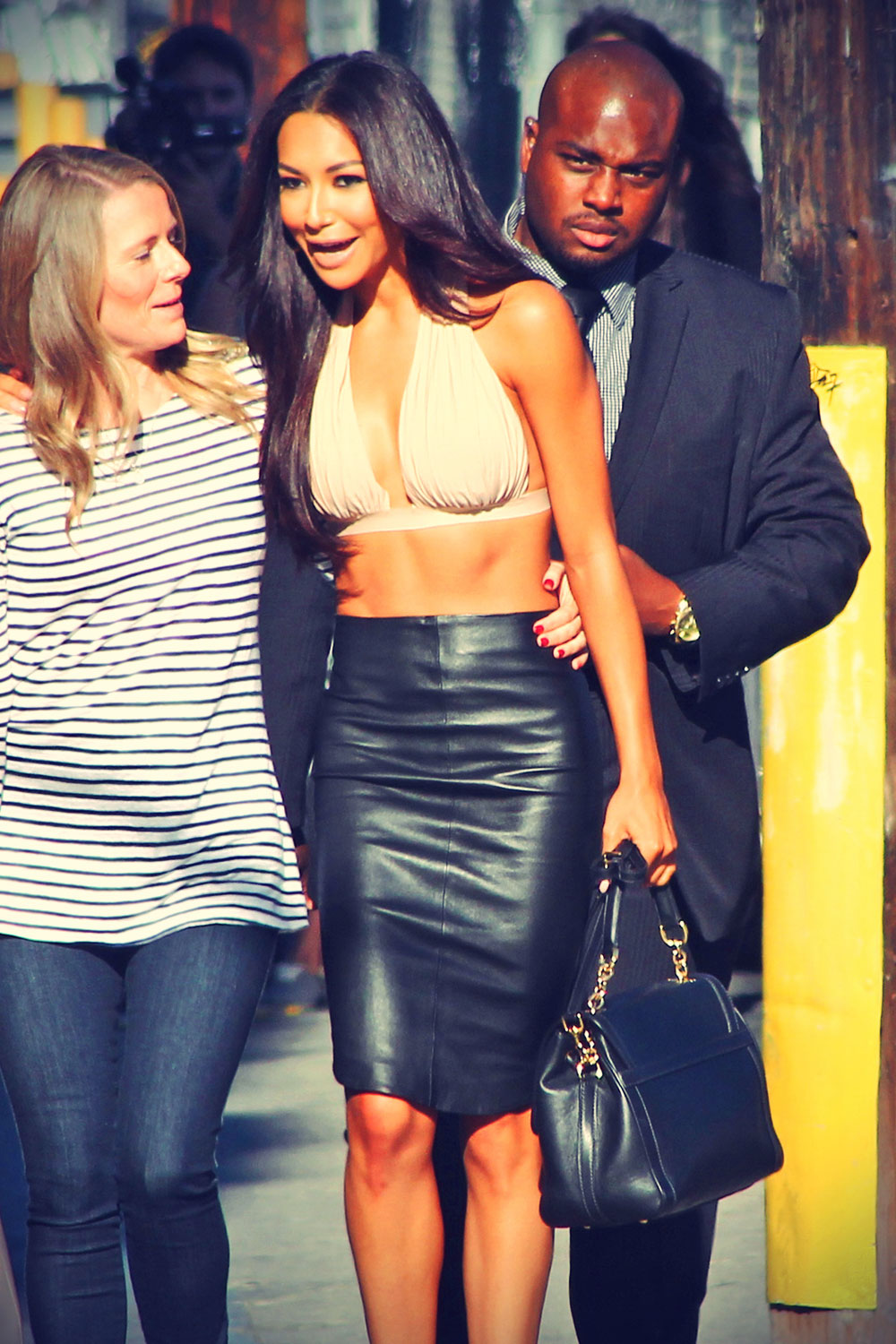 Naya Rivera  outside ABC's Jimmy Kimmel Live! studios