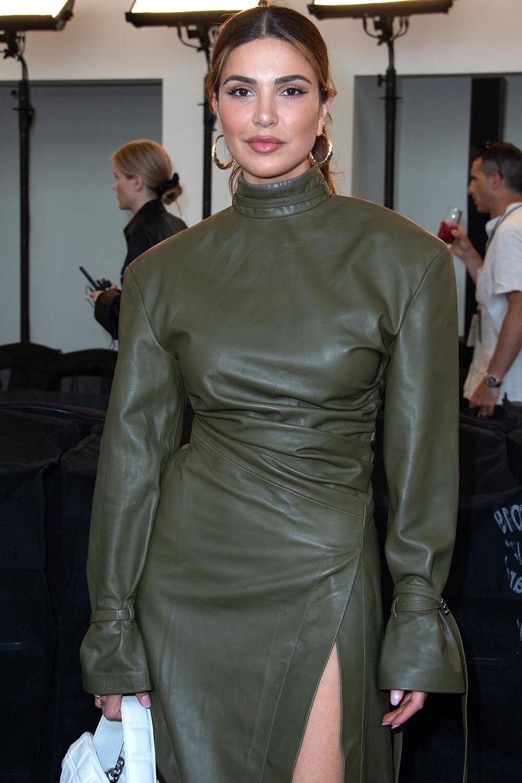 Negin Mirsalehi attends Acne Backstage During Paris Haute