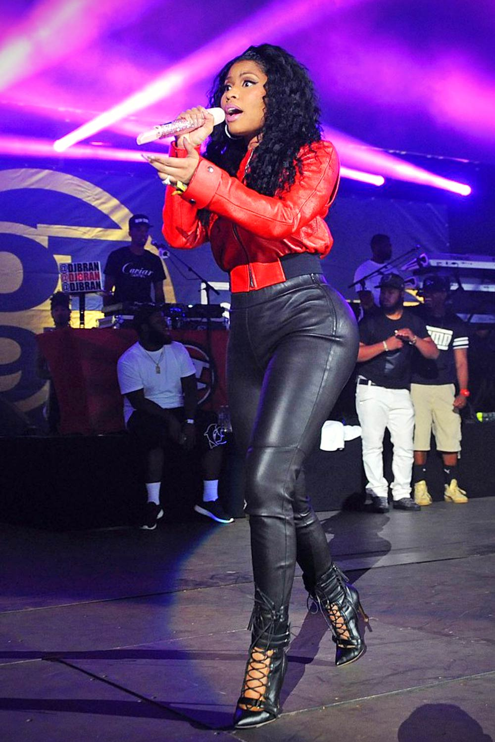 Nicki Minaj Performs Hot 97 Summer Jam Demi Lovato Purple Boots