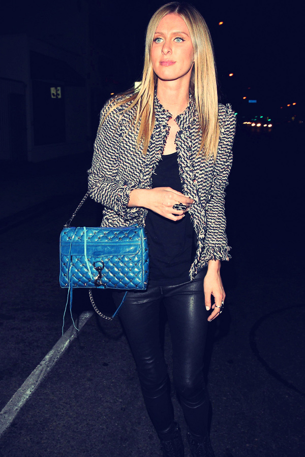 Nicky Hilton Leather Trousers