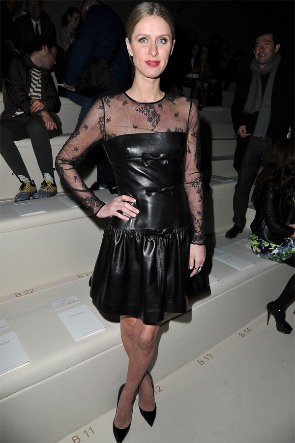 Nicky Hilton at Valentino FW Fashion Show in Paris