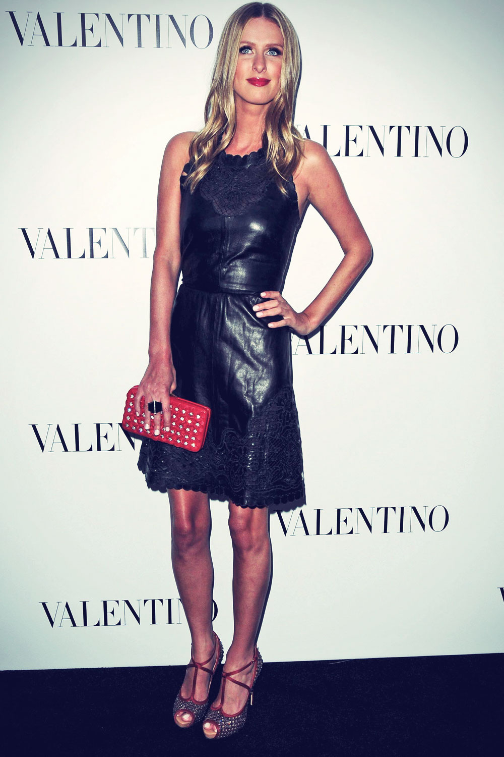 Nicky Hilton attends The Valentino Rodeo Drive Flagship store opening
