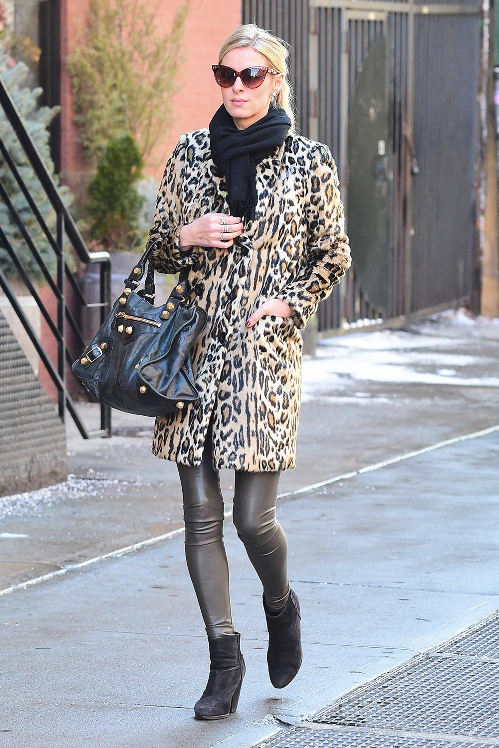 Nicky Hilton is seen walking in Soho