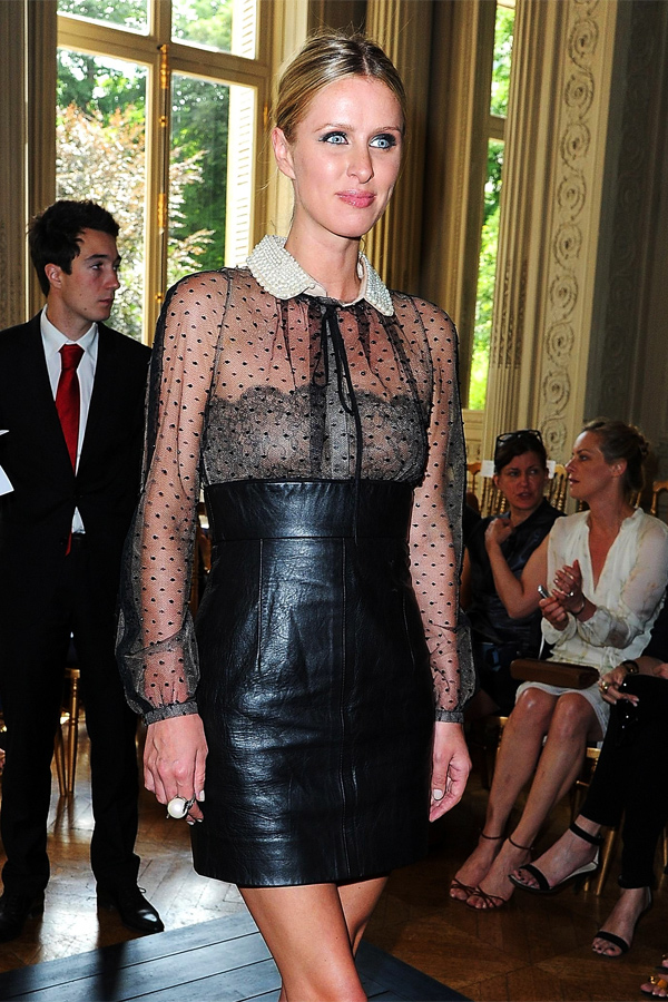Nicky Hilton at Fashion Week in Paris