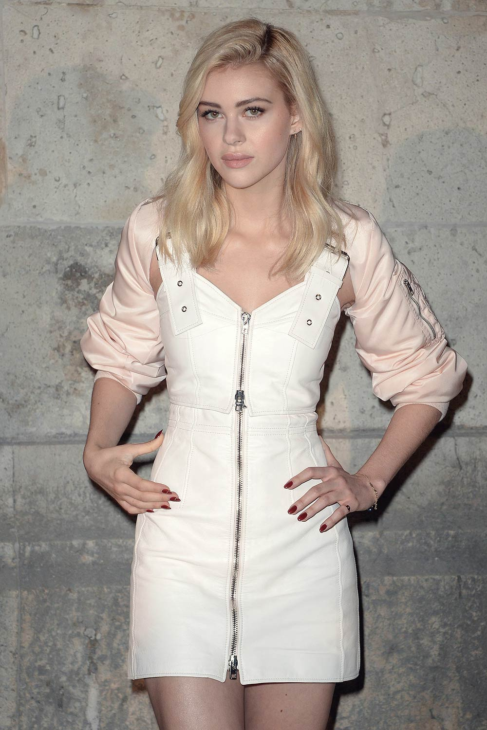 nicola peltz attends givenchy fashion show leather